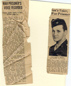 ALT:Jack Brown newspaper clipping