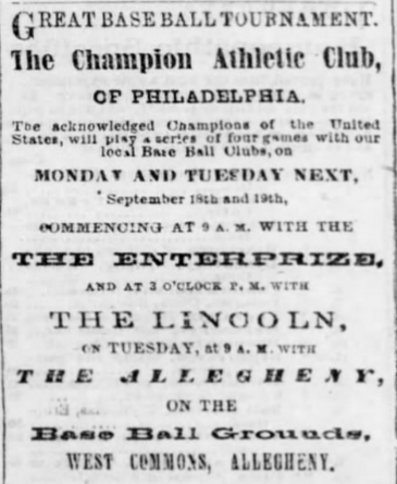 The Daily Pittsburgh Gazette: Sept. 19, 1865.