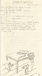 "Anticipating Mollie Katzen's hand-drawn ""Moosewood"" cookbook by 20 years, Monongahela's Fine Arts Club shared their favorite recipes in 1955."