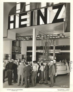 ALT:Heinz Company display at the Century of Progress Exposition, Chicago, 1933. H.J. Heinz Company Photographs, MSP 57, Senator John Heinz History Center.