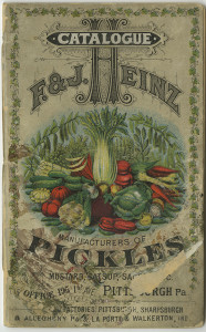 ALT:An early product catalog of the F&J Heinz Company, 1885. H.J. Heinz Company Photographs, MSP 57, Senator John Heinz History Center.