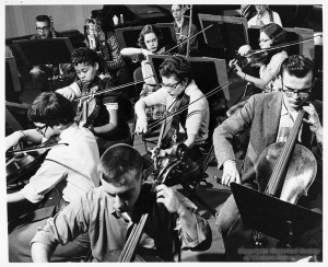 ALT:All-City Orchestra Rehearsal at Schenley High School. Pittsburgh Public School Photographs, MSP 117, Detre Library & Archives, Heinz History Center