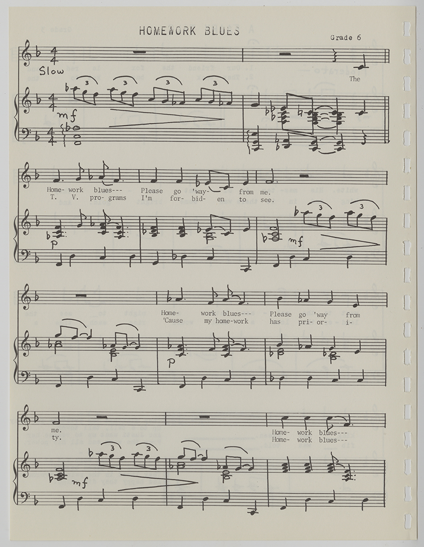 Original Songs of the Elementary Creative Music Project: the Pittsburgh Public Schools, June 1928. Pittsburgh Public School Records, MSP 117, Detre Library & Archives, Heinz History Center