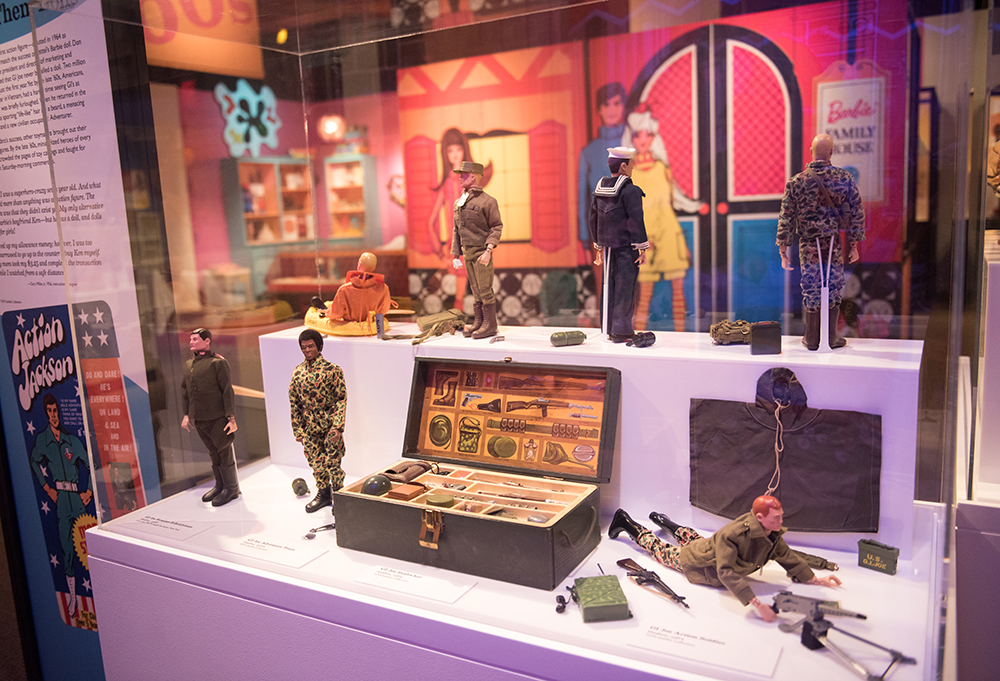 G.I. Joe in the Toys of the '50s, '60s and '70s exhibit at the History Center | Photo by Rachellynn Schoen