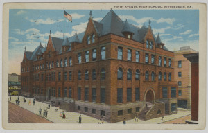 ALT:Fifth Avenue High School, Pittsburgh Public Schools. General Postcard Collection, GPCC, Detre Library & Archives, Senator John Heinz History Center.
