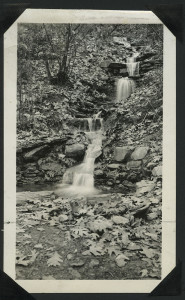 ALT:Waterfalls on eastern slope of Chatham Wood. | Buhl Foundation Photographs, MSP 187, Detre Library & Archives at the Senator John Heinz History Center.