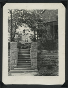 ALT:View of stairs at entrance into Chatham Village, June 1939. | Buhl Foundation Photographs, MSP 187, Detre Library & Archives at the Senator John Heinz History Center.
