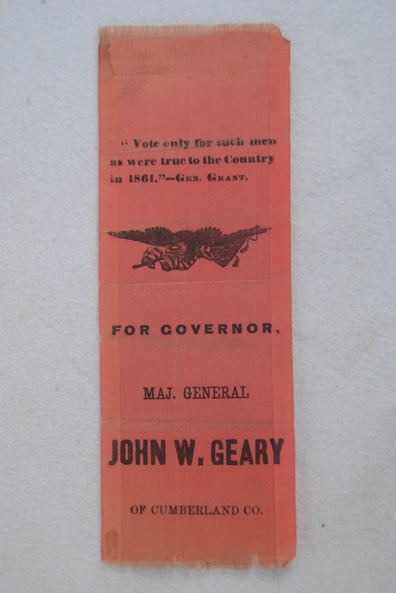 John W. Geary campaign ribbon | 2015.22.46 | Heinz History Center Collections