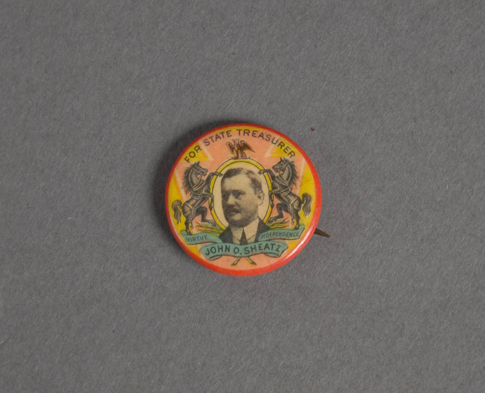 John O. Sheatz campaign button | 2015.22.927 | Heinz History Center Collections