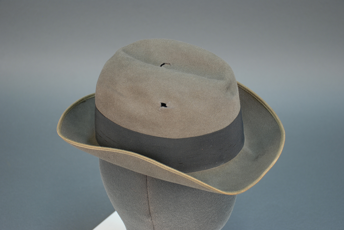 Hat shot during Northside armed robbery, 1921. | Uncovering Crime: Documenting Pittsburgh's Criminal Past | Heinz History Center