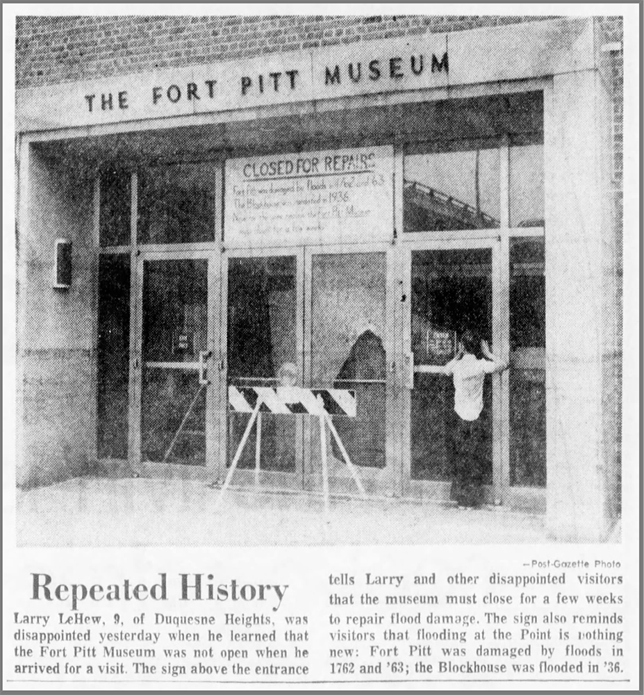 Fort Pitt Museum entrance, July 3, 1972.