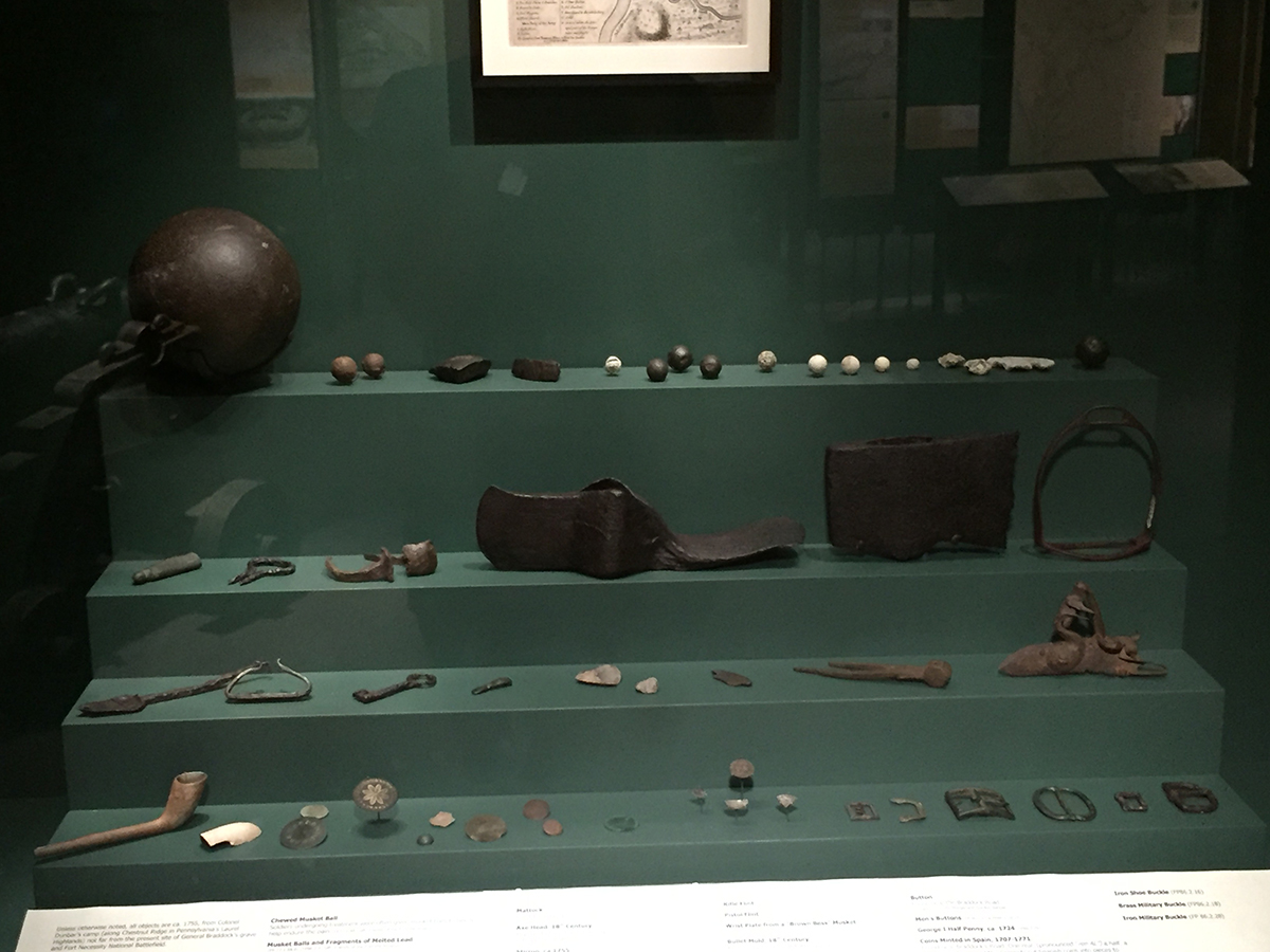 Thomas Dunbar artifacts at the Fort Pitt Museum