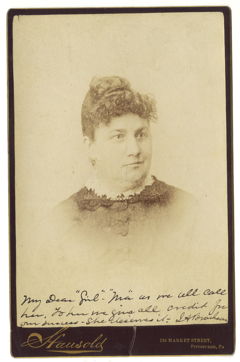 Cabinet card of Phoebe Brashear, Heinz History Center