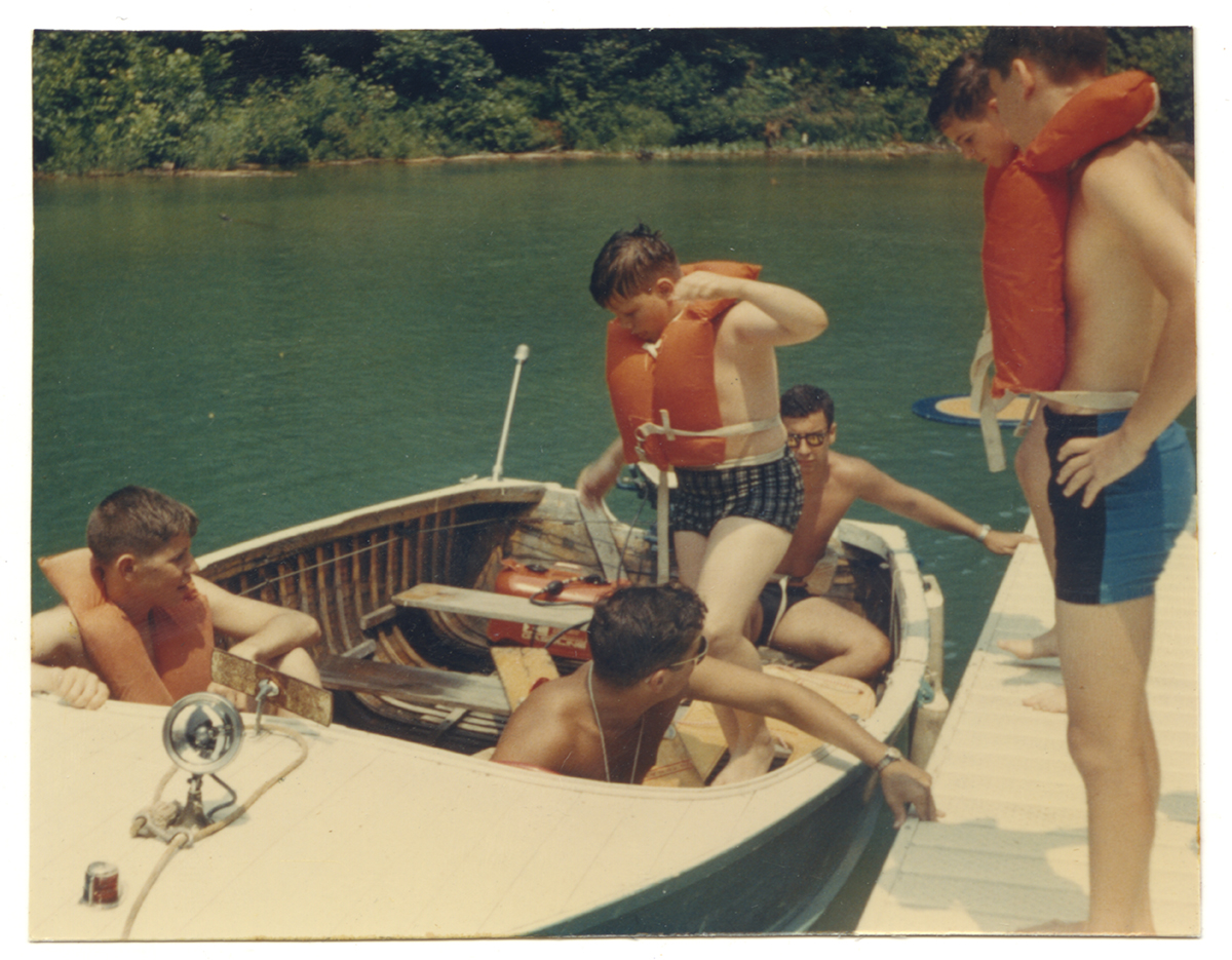 Getting ready for a boat ride at Camp Lynwood near Morgantown, West Virginia, 1960s. Records of the Jewish Community Center of Greater Pittsburgh, MSS 389, Detre Library & Archives, Heinz History Center.