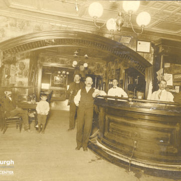 Interior of a South Side saloon, c. 1900. pixburgh: a photographic experience, Heinz History Center