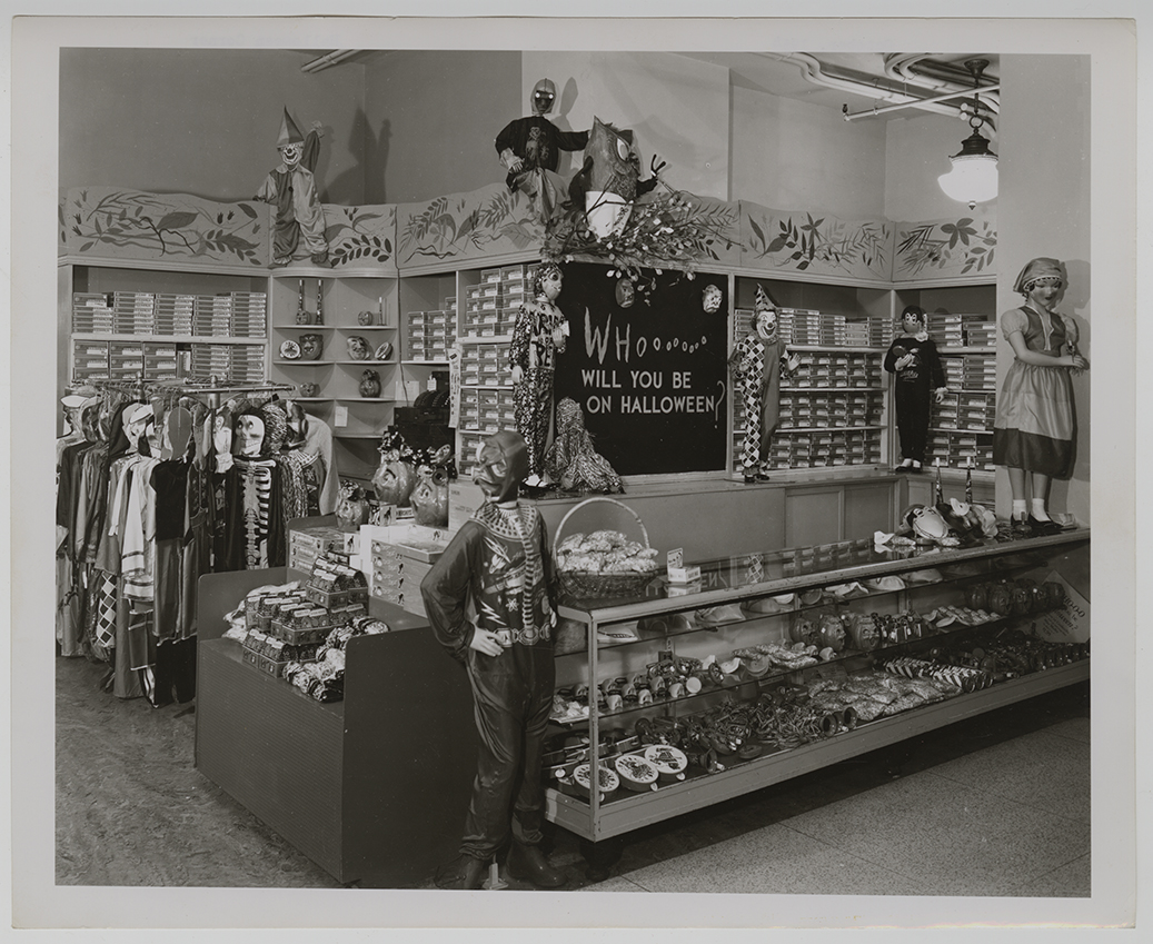 Horne's Department Store featured a Children's Halloween Costume Shop on the third floor in 1956. Joseph Horne Company Collection, Detre Library & Archives at the Heinz History Center.