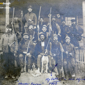 Hunting at Hoover Farm, 1905. | pixburgh: a photographic experience, Heinz History Center