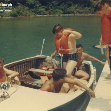 Getting ready for a boat ride at Camp Lynwood near Morgantown, West Virginia, 1960s. | pixburgh: a photographic experience, Heinz History Center