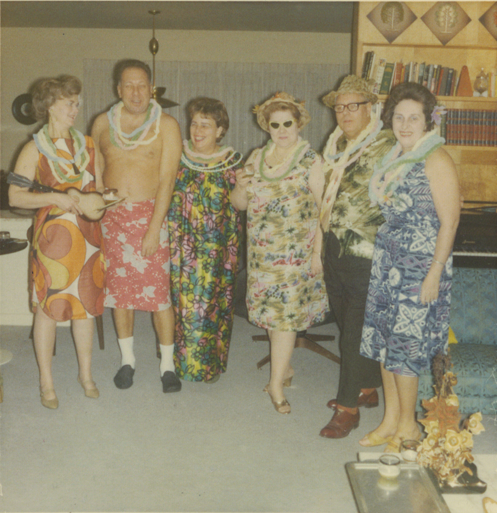 The neighborhood dinner club has a tiki party, 1967. Taylor Family Collection, Detre Library & Archives at the Heinz History Center.