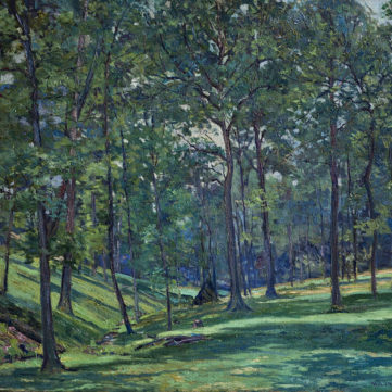 """Gibsonia Woodland,"" by Will J. Hyett, oil, 1917. 