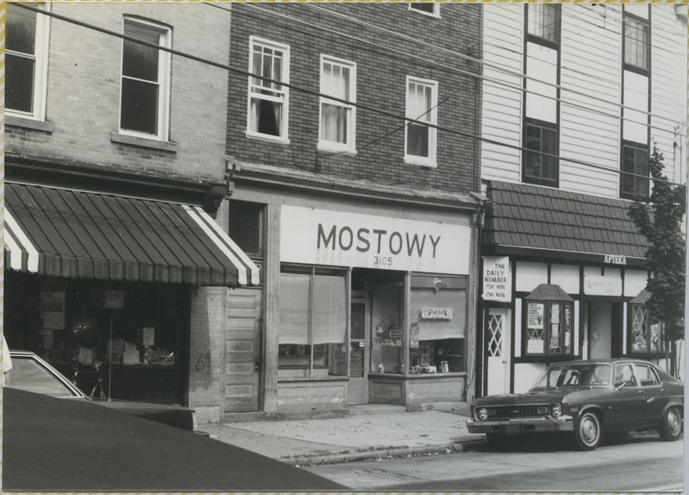 An image of the Mostowy hardware store, formerly located in Polish Hill at 3105 Brereton St, c. 1980. Heinz History Center.