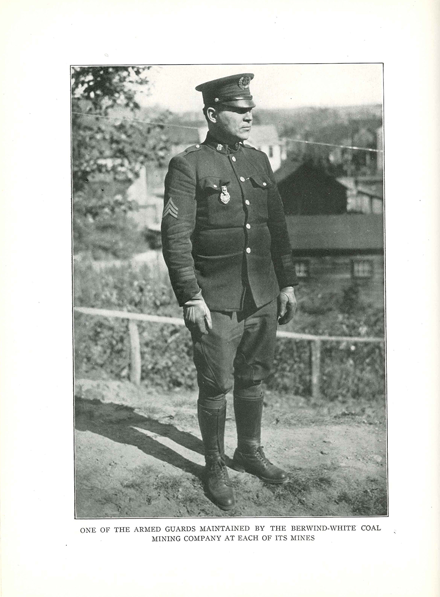Portrait of a Berwind-White Coal Company Police officer, 1920s.