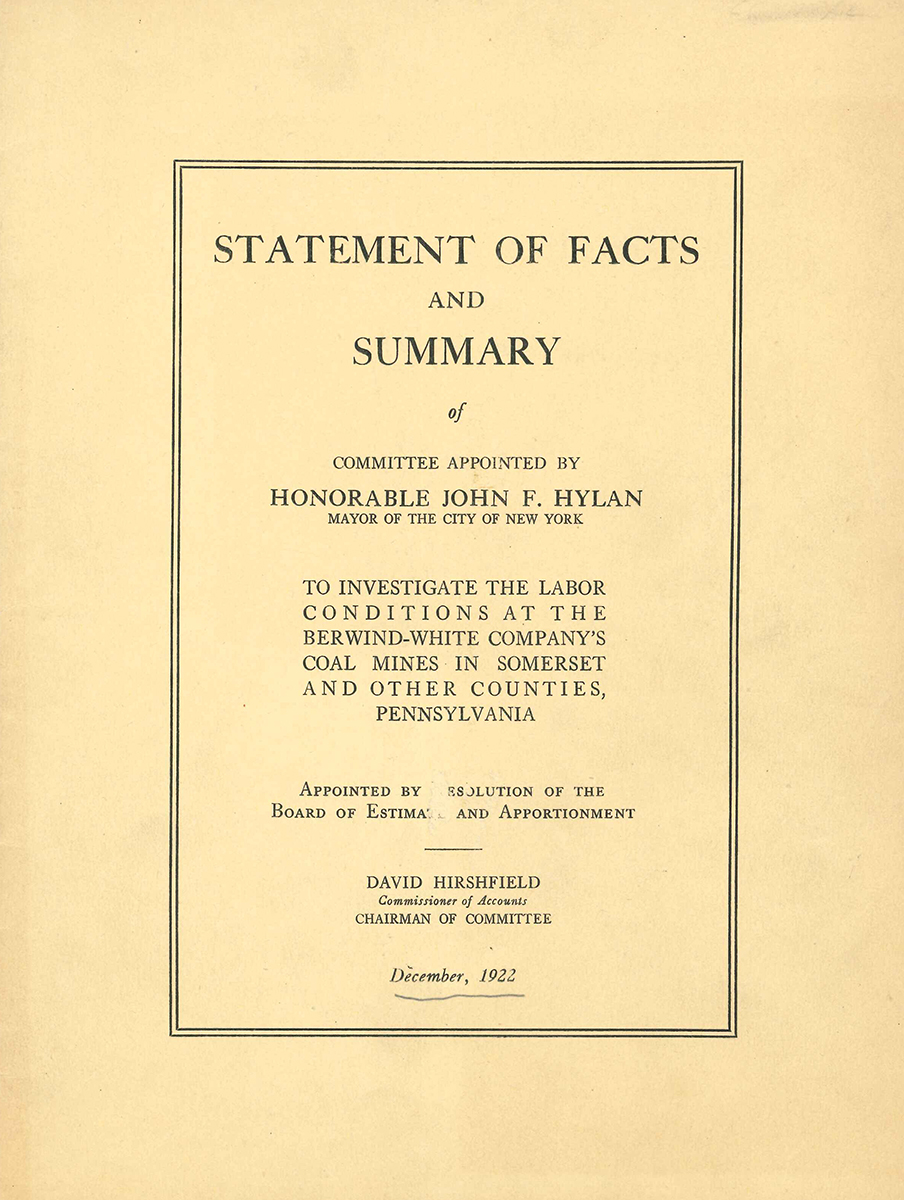 1922 Pamphlet Cover