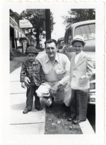 ALT:David Marinaro, Ted Marinaro, and Julius Marinaro, early 1950s, Monroe Street in Butler, Pa. | Your #Pixburgh Photo Album | #Pixburgh: A Photographic Experience