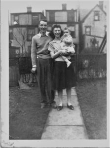 ALT:Michael and Helen Suley with their daughter, Judy, 1942, Upland Street, Homewood. | Your #Pixburgh Photo Album | #Pixburgh: A Photographic Experience