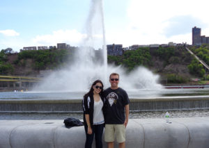 ALT:Sam Schilling and Jenn Meyer near the fountain at Point State Park, May 2015. | Your #Pixburgh Photo Album | #Pixburgh: A Photographic Experience