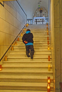 ALT:Jack Maruca on the Holy Stairs at St. Patrick's in the Strip District, November 2014. | Your #Pixburgh Photo Album | #Pixburgh: A Photographic Experience