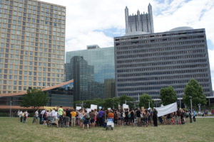 ALT:Black Lives Matter protestors, the same day as the bicentennial parade - 7/9/2016 - Point State Park. | Your #Pixburgh Photo Album | #Pixburgh: A Photographic Experience