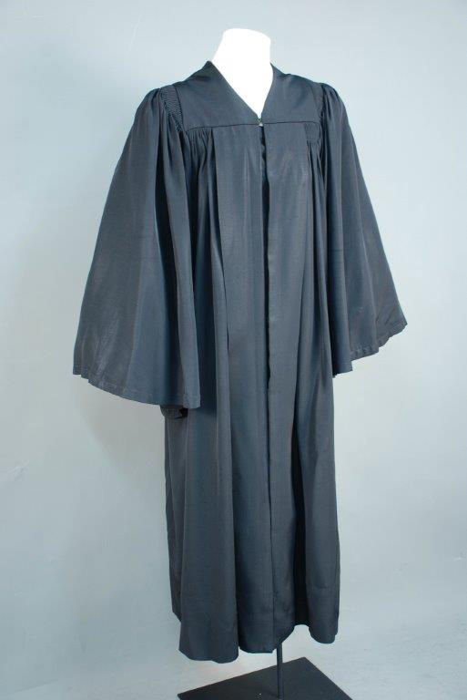 Judicial robe, 1972. Gift of Gwendolyn G. Simmons.