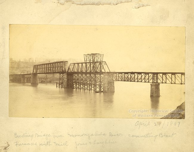 Hot Metal Bridge, April 27, 1887, Frederick T. Gretton Photographs, Detre Library & Archives at the History Center