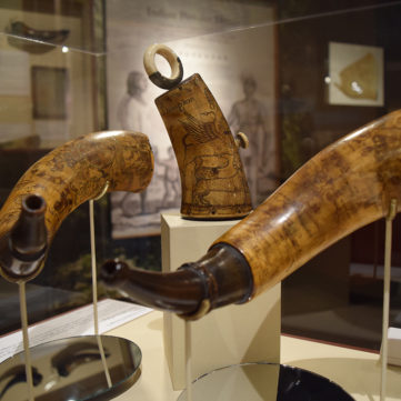 Professionally Engraved Horns | From Maps to Mermaids: Carved Powder Horns in Early America | Fort Pitt Museum