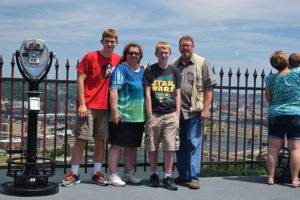 ALT:The Tuttle family, at the top of the Duquesne Incline, July 20, 2016. | Your #Pixburgh Photo Album | #Pixburgh: A Photographic Experience