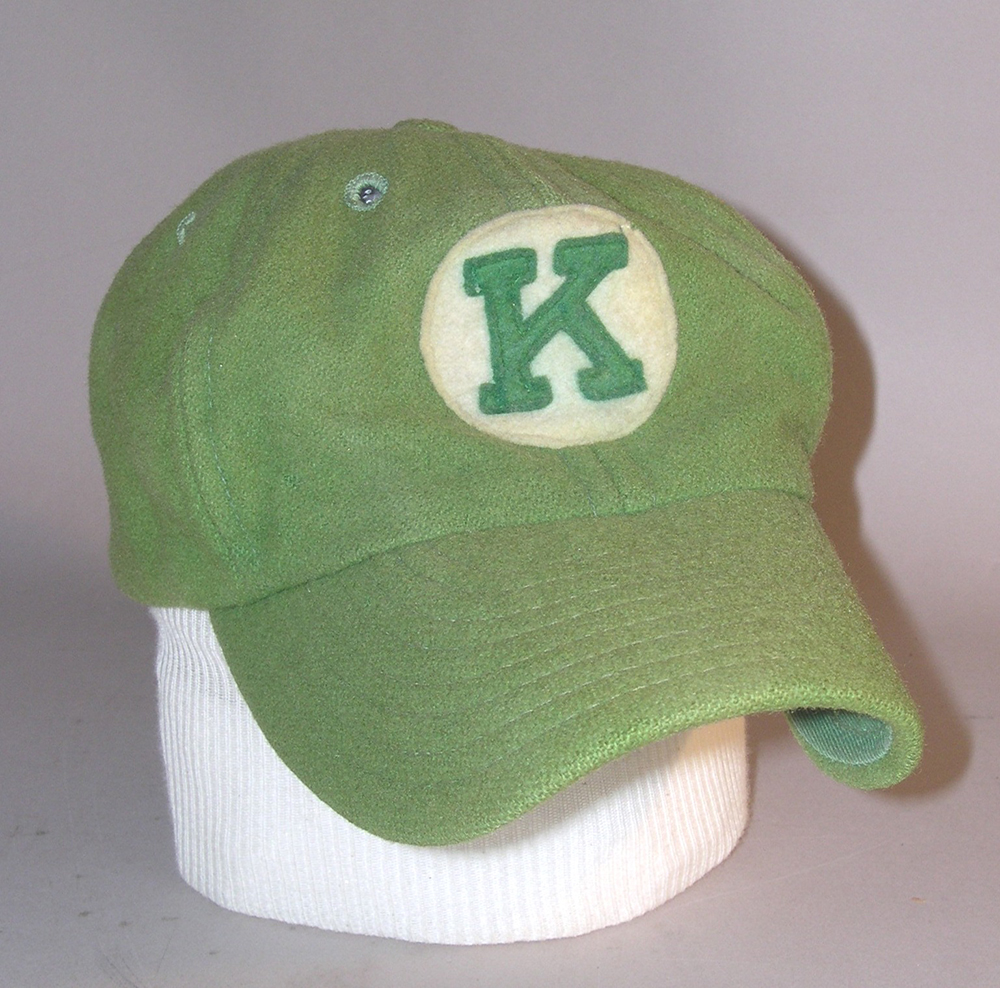 Kalamazoo Lassies baseball cap worn by Betty Jane Cornett, 1951. | Heinz History Center
