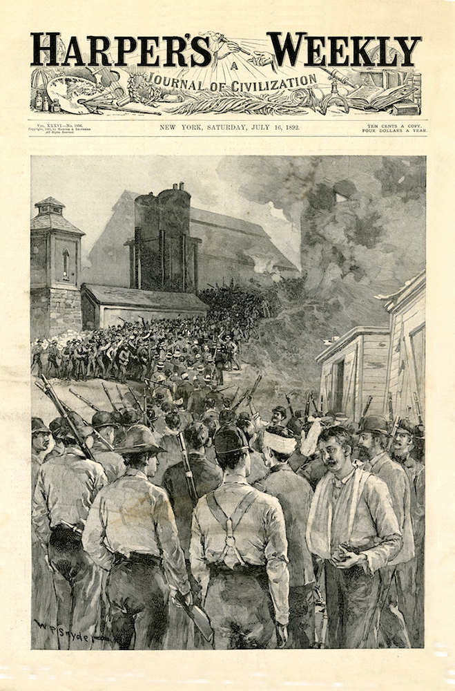 Harper's Weekly cover image, July 16, 1892 | Heinz History Center
