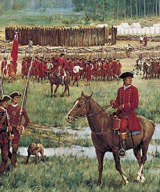 "Washington at Fort Necessity. July 1754. Detail of ""Charming Field for an Encounter,"" Griffing."