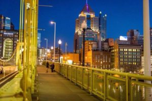 ALT:Andy and Kristen Fleming, Roberto Clemente Bridge, March 26, 2016. | Your #Pixburgh Photo Album | #Pixburgh: A Photographic Experience