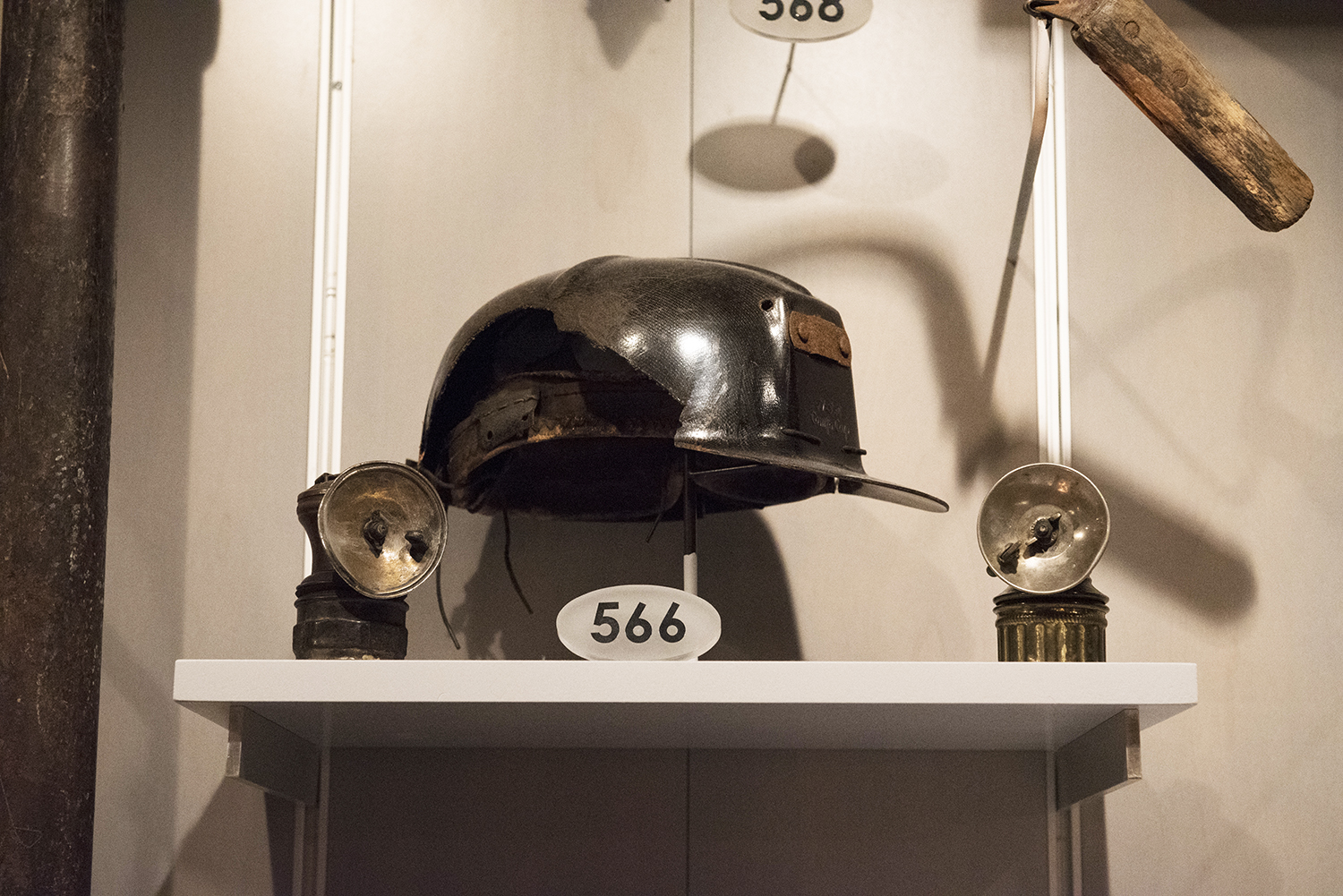 Miner's helmet belonging to Richard Furgiuele, c. 1948. | Special Collections Gallery at the Heinz History Center