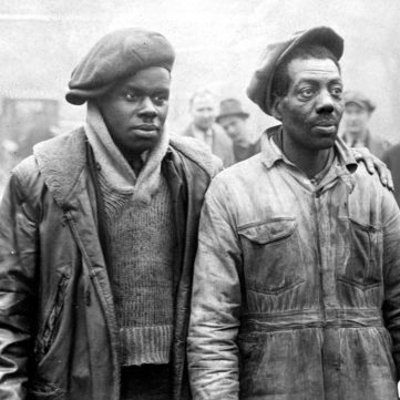 "Mack Moore and Frank Richardson, members of Father Cox's ""Army,"" 1931 