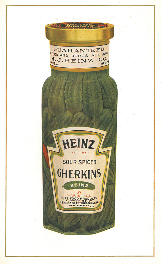Sour Spiced Gherkins | H.J. Heinz Company 1910 product catalogue | Heinz History Center
