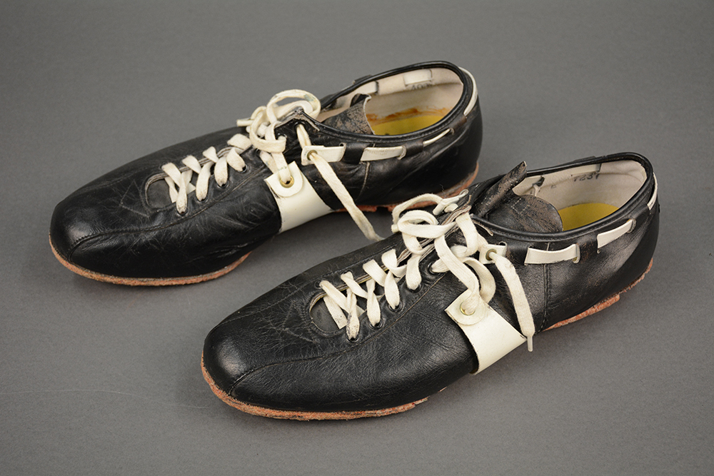 Immaculate Reception shoes worn by Franco Harris, December 23, 1972. Courtesy of Franco Harris.