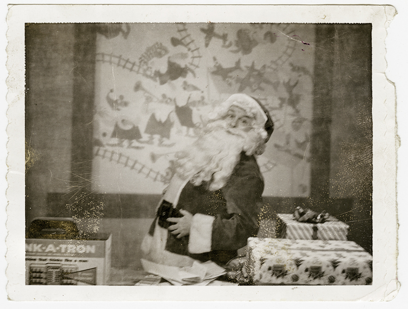 This Polaroid from 1961 shows Heid as Santa on WTAE-Channel 4. Photo courtesy of Jim Heid.