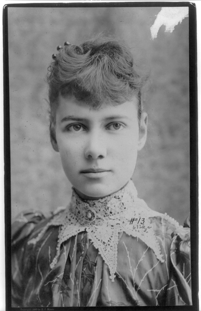 Portrait of Nellie Bly, c. 1890. Courtesy of the Library of Congress.