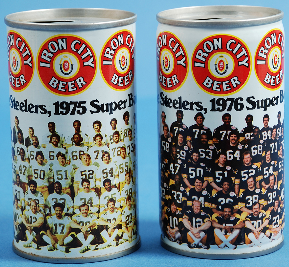 Iron City Brewing Company Steelers Team Cans, 1975 and 1976. | Heinz History Center