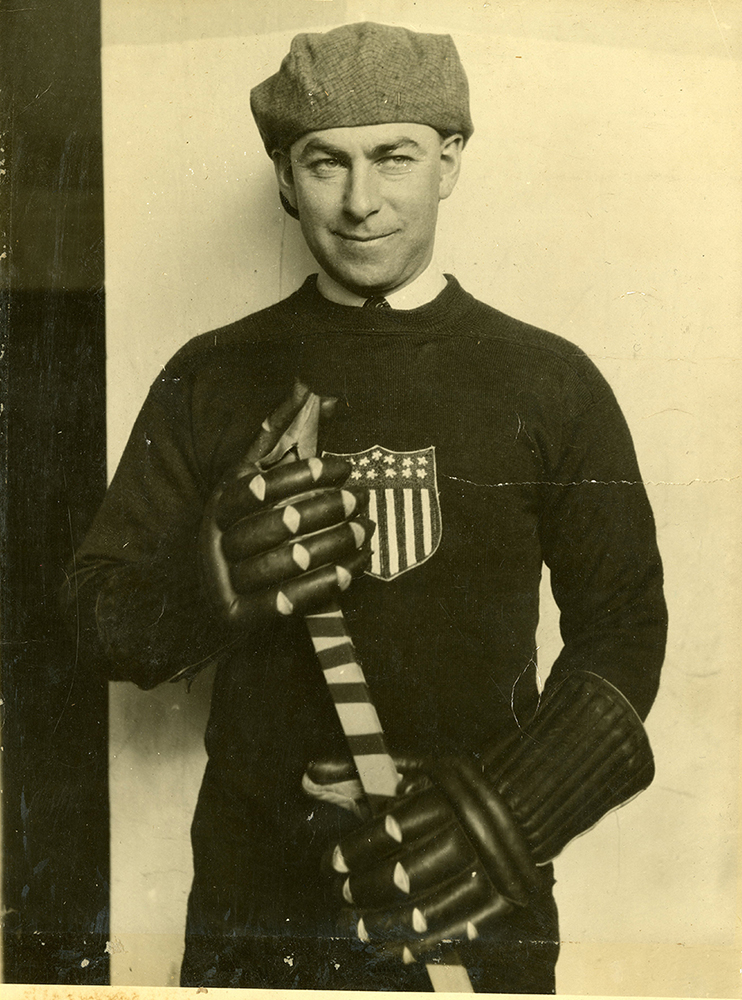 Herb Drury in Olympic sweater, 1924. Courtesy of Frederick R. Favo.