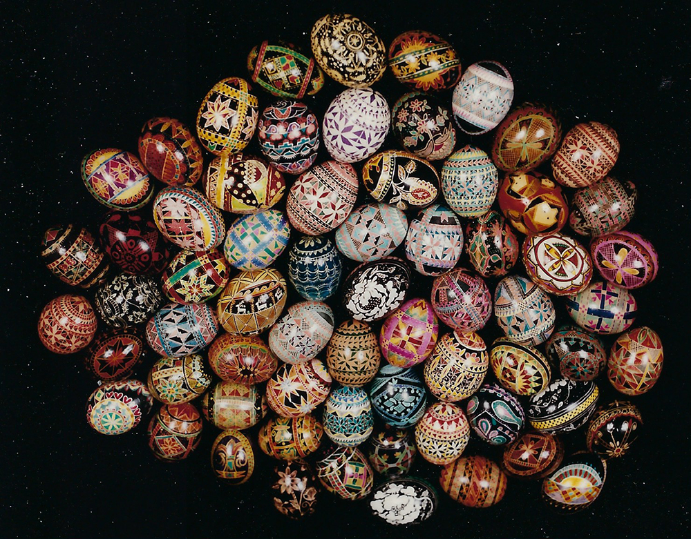 Traditional pysanky made by Lynda Ellis. Photo courtesy of Joe Ellis.