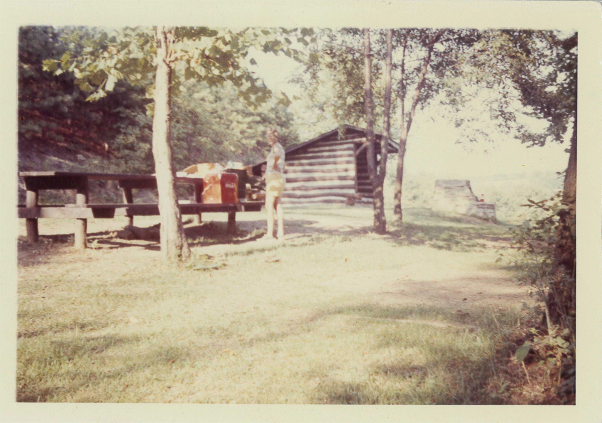 These Adirondack shelters were located where the top of the Miller Museum now sits today. They were used both for overnight stays as well as picnicking.
